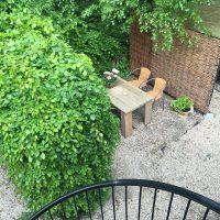 Atelier aan Zee  terrace from balcony